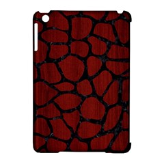 Skin1 Black Marble & Reddish Brown Wood (r) Apple Ipad Mini Hardshell Case (compatible With Smart Cover)