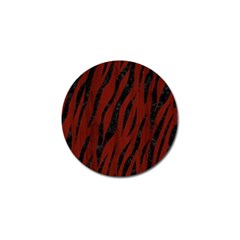 Skin3 Black Marble & Reddish Brown Wood Golf Ball Marker (10 Pack)