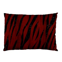 Skin3 Black Marble & Reddish Brown Wood Pillow Case (two Sides)
