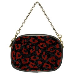 Skin5 Black Marble & Reddish Brown Wood Chain Purses (two Sides)