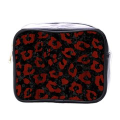 Skin5 Black Marble & Reddish Brown Wood Mini Toiletries Bags