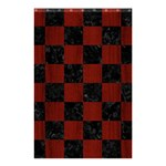 SQUARE1 BLACK MARBLE & REDDISH-BROWN WOOD Shower Curtain 48  x 72  (Small)  42.18 x64.8 Curtain