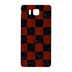Square1 Black Marble & Reddish Brown Wood Samsung Galaxy Alpha Hardshell Back Case