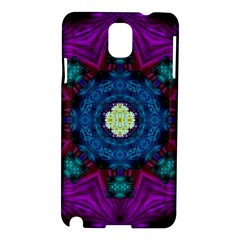 Sunshine Mandala And Fantasy Snow Floral Samsung Galaxy Note 3 N9005 Hardshell Case