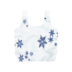 Star Snow Blue Rain Cool Full Print Recycle Bags (s)