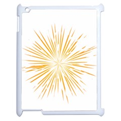 Fireworks Light Yellow Space Happy New Year Apple Ipad 2 Case (white)