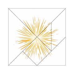 Fireworks Light Yellow Space Happy New Year Acrylic Tangram Puzzle (6  X 6 )