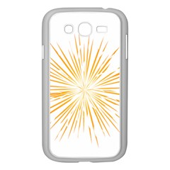 Fireworks Light Yellow Space Happy New Year Samsung Galaxy Grand Duos I9082 Case (white)