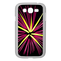 Fireworks Pink Red Yellow Black Sky Happy New Year Samsung Galaxy Grand Duos I9082 Case (white)