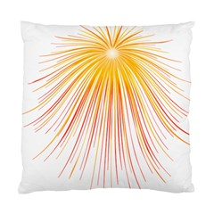 Fireworks Yellow Light Standard Cushion Case (two Sides)