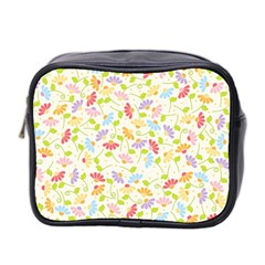Flower Rainbow Sexy Leaf Plaid Vertical Horizon Mini Toiletries Bag 2 Side