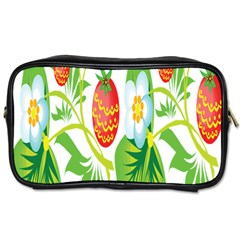 Fruit Flower Leaf Red White Green Starflower Toiletries Bags