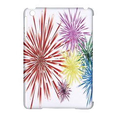 Happy New Year City Semmes Fireworks Rainbow Red Blue Yellow Purple Sky Apple Ipad Mini Hardshell Case (compatible With Smart Cover)