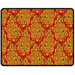 Flower Rose Red Yellow Sexy Fleece Blanket (medium)
