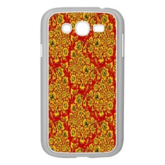 Flower Rose Red Yellow Sexy Samsung Galaxy Grand Duos I9082 Case (white)