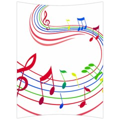 Rainbow Red Green Yellow Music Tones Notes Rhythms Back Support Cushion
