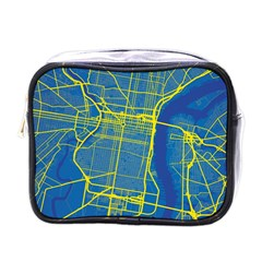 Philadelphia New York Map Art City Mini Toiletries Bags
