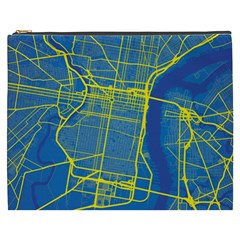 Philadelphia New York Map Art City Cosmetic Bag (xxxl)