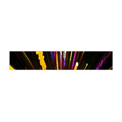 Seamless Colorful Light Fireworks Sky Black Ultra Flano Scarf (mini)