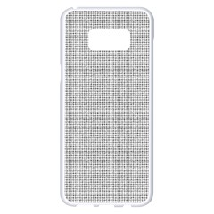 Line Black White Camuflage Polka Dots Samsung Galaxy S8 Plus White Seamless Case