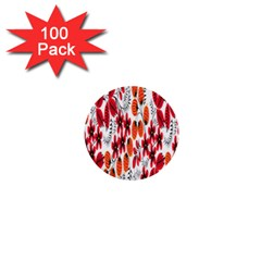 Rose Flower Red Orange 1  Mini Buttons (100 Pack)