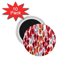 Rose Flower Red Orange 1 75  Magnets (10 Pack)