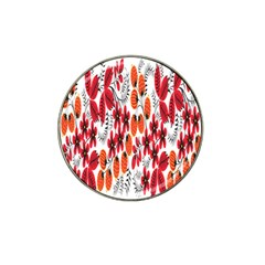 Rose Flower Red Orange Hat Clip Ball Marker (4 Pack)