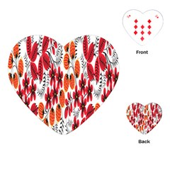 Rose Flower Red Orange Playing Cards (heart)