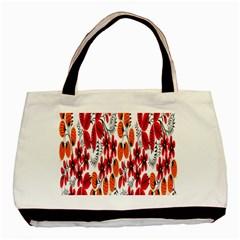 Rose Flower Red Orange Basic Tote Bag
