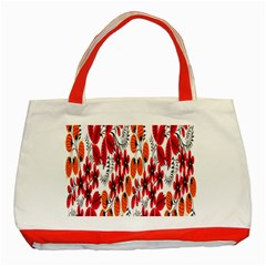 Rose Flower Red Orange Classic Tote Bag (red)