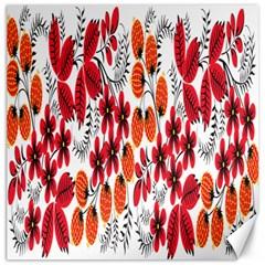 Rose Flower Red Orange Canvas 12  X 12