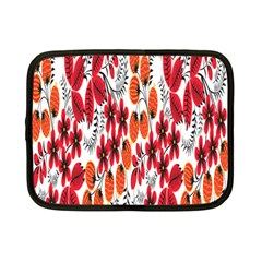 Rose Flower Red Orange Netbook Case (small)