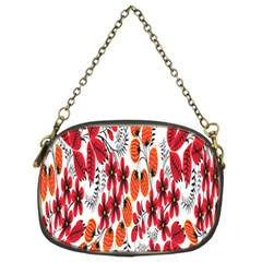 Rose Flower Red Orange Chain Purses (two Sides)
