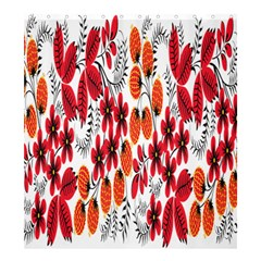 Rose Flower Red Orange Shower Curtain 66  X 72  (large)