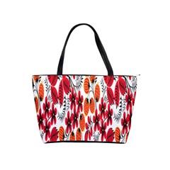 Rose Flower Red Orange Shoulder Handbags