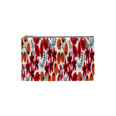 Rose Flower Red Orange Cosmetic Bag (small)