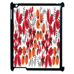 Rose Flower Red Orange Apple Ipad 2 Case (black)