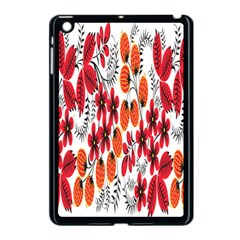 Rose Flower Red Orange Apple Ipad Mini Case (black)