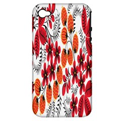 Rose Flower Red Orange Apple Iphone 4/4s Hardshell Case (pc+silicone)