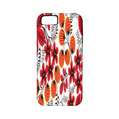Rose Flower Red Orange Apple Iphone 5 Classic Hardshell Case (pc+silicone)