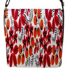 Rose Flower Red Orange Flap Messenger Bag (s)