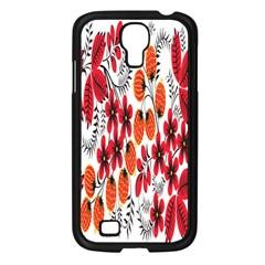 Rose Flower Red Orange Samsung Galaxy S4 I9500/ I9505 Case (black)