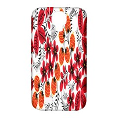 Rose Flower Red Orange Samsung Galaxy S4 Classic Hardshell Case (pc+silicone)