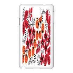 Rose Flower Red Orange Samsung Galaxy Note 3 N9005 Case (white)