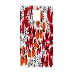 Rose Flower Red Orange Samsung Galaxy Note 4 Hardshell Case