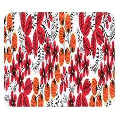 Rose Flower Red Orange Double Sided Flano Blanket (small)