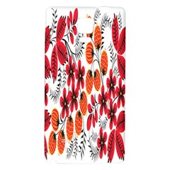 Rose Flower Red Orange Galaxy Note 4 Back Case