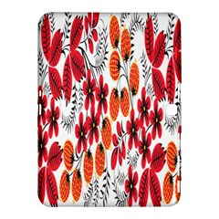 Rose Flower Red Orange Samsung Galaxy Tab 4 (10 1 ) Hardshell Case