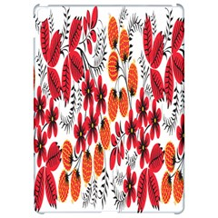 Rose Flower Red Orange Apple Ipad Pro 12 9   Hardshell Case