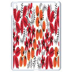 Rose Flower Red Orange Apple Ipad Pro 9 7   White Seamless Case